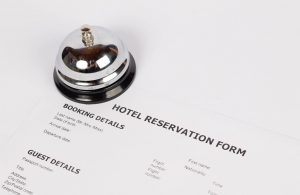 hotel reservation form with bell