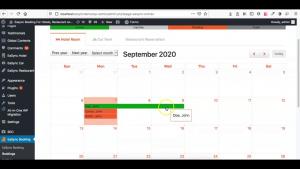 Installation Calendar Booked Entries