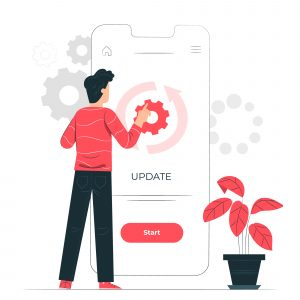 WordPress Maintenance Release and Updating Tips Update Successful Man in Red Coding