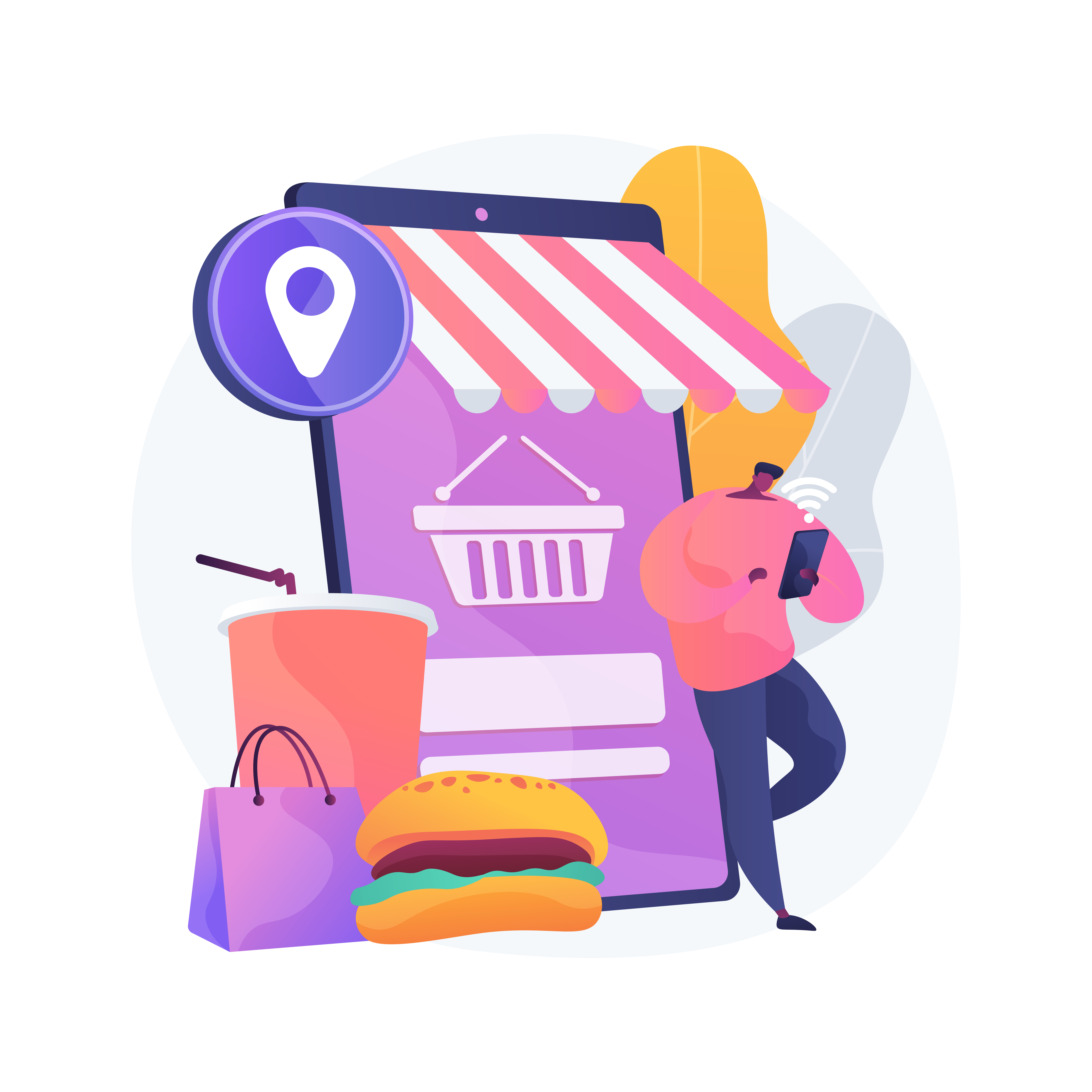 Optimize WordPress Restaurant Pages to Get Your Brand Across Man Ordering Food and Drink From Online Shop