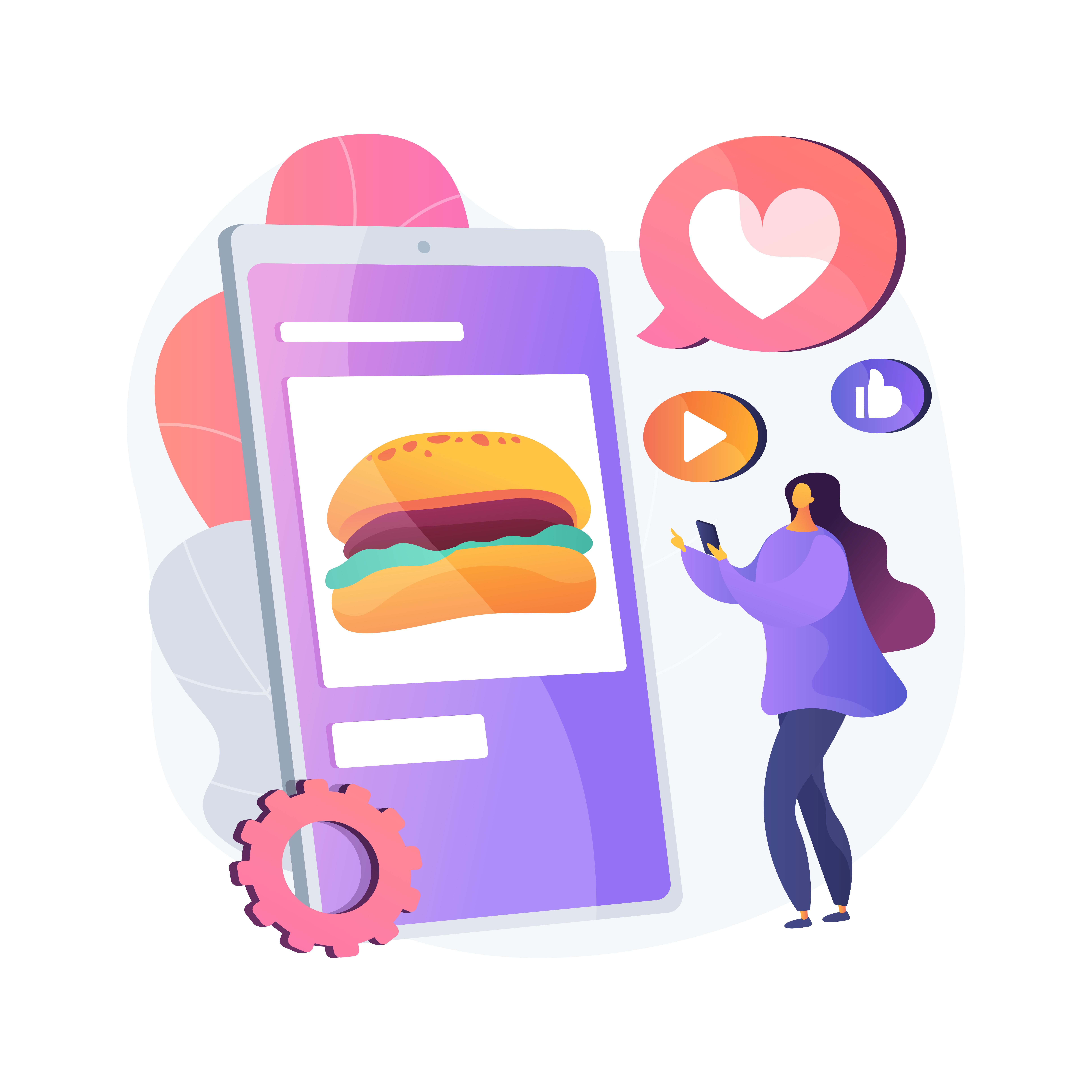 Optimize WordPress Restaurant Pages to Get Your Brand Across Woman Ordering Burger Online