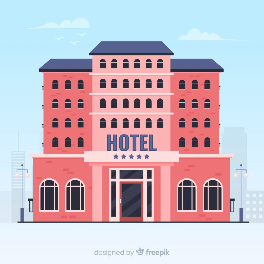 How Do Online Hotel Reservation Systems Work Red Hotel Building by Freepik